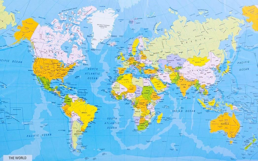 wereldkaart posters met fantastische kleuren, ideaal voor jouw tuin