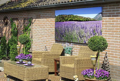 Tuinposter Met Uniek En Onzichtbaar Tuinhouten Frame
